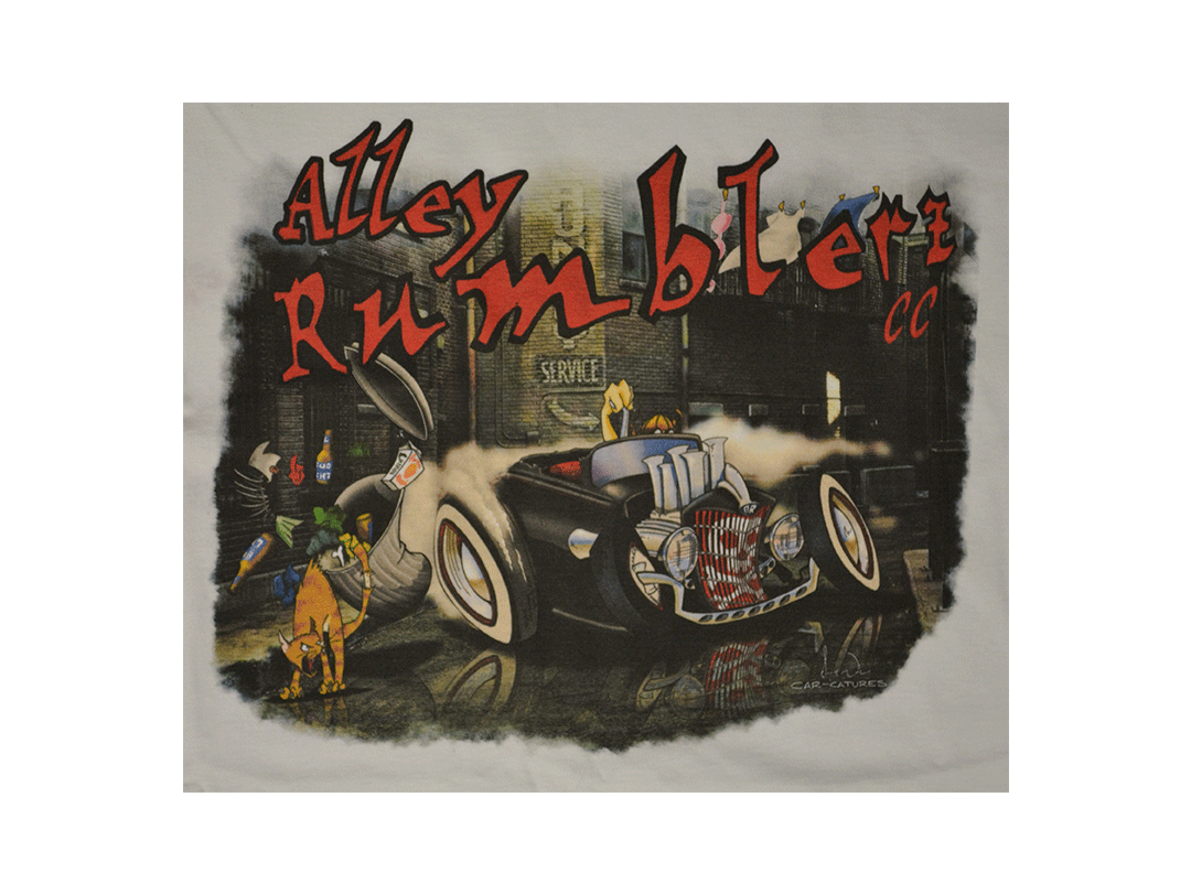Alley Rumblers DTG closeup